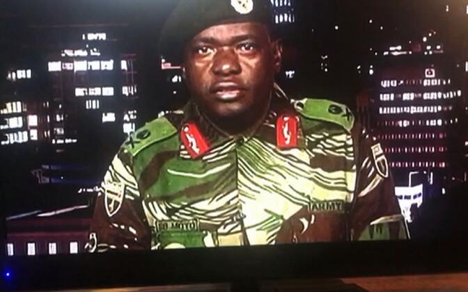 Zimbabwe kindralmajori Sibusiso Moyo telepöördumine.