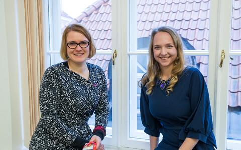 Медиасоветники председательства: Пирет Сеэман и Ольга Корнейчик.