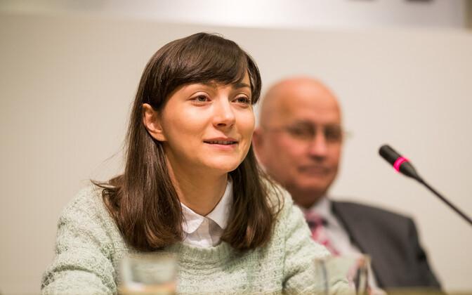 Лидер Партии зеленых и вице-мэр Таллинна Зюлейха Измайлова.