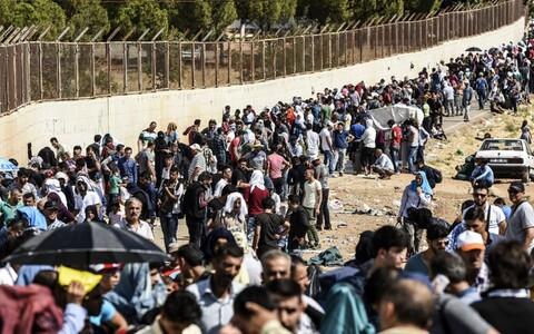 Сирийские беженцы в Турции.