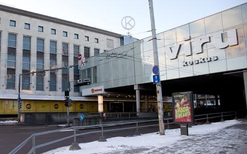 Kaubamaja ja Viru keskust ühendav galerii.