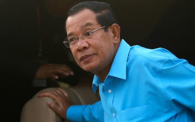 Kambodža peaminister Hun Sen.