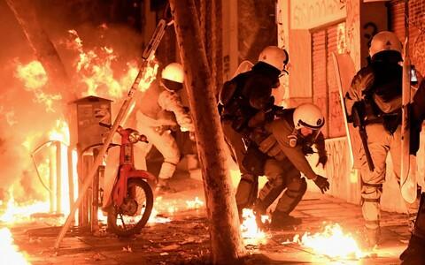 Беспорядки в Афинах.