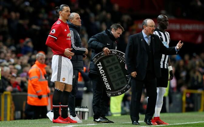 Zlatan Ibrahimovic (vasakul) ja Rafael Benitez