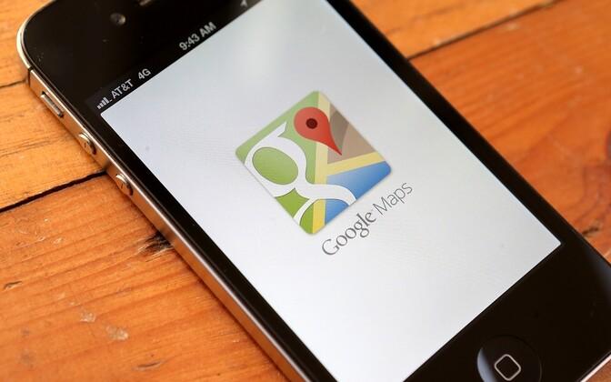Google Maps Apple'i telefonis.