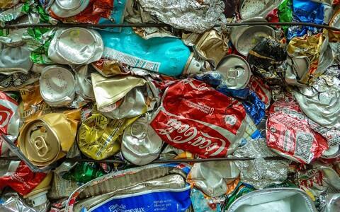 Taaskasutatavad pakendijäätmed.
