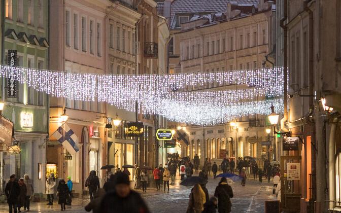 Jõuluehtes Tallinna vanalinn.