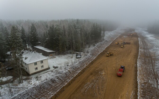 Construction on a new section of Tallinn-Tartu Highway between Kose and Ardu.