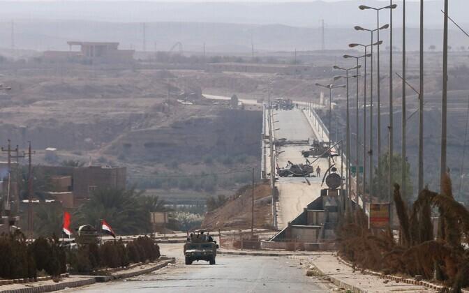 Iraagi väed Rawa sillal Eufrati jõe orus.