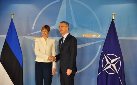 President Kersti Kaljulaid and NATO Secretary General Jens Stoltenberg.