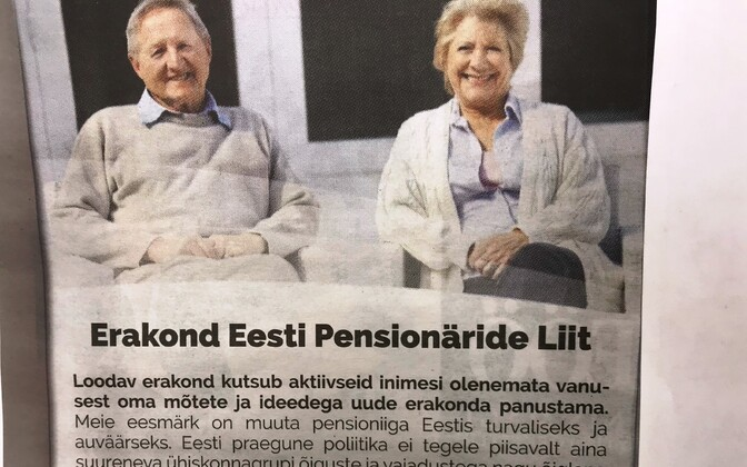 Pensionäride partei reklaam