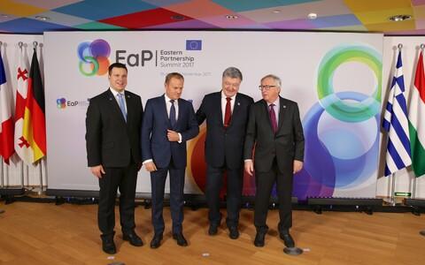 Jüri Ratas, Donald Tusk, Petro Porošenko ja Jean-Claude Juncker.