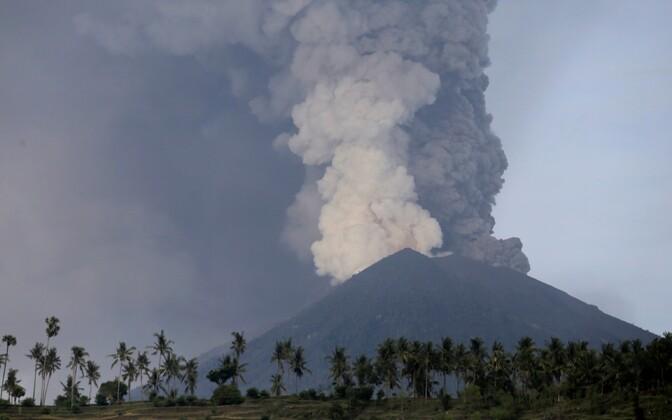 Agungi vulkaan.