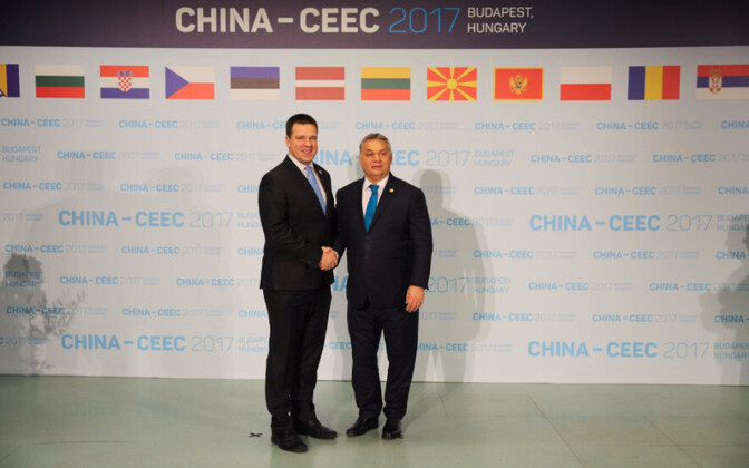 Jüri Ratas at the China-CEEC 16+1 forum in Budapest on Monday. Nov. 27, 2017.