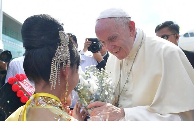 Папа Римский Франциск в Мьянме.