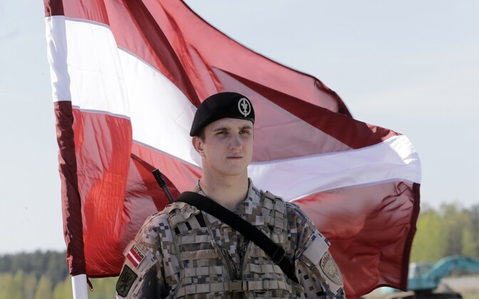 A Latvian soldier.