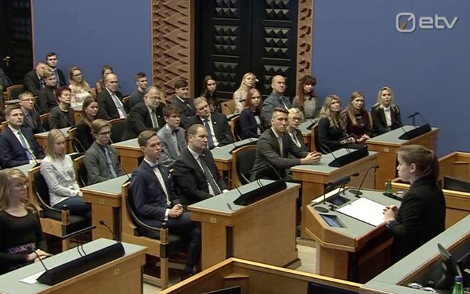Eestimaa noorte manifesti ettekandmine riigikogus 28.11.2017.
