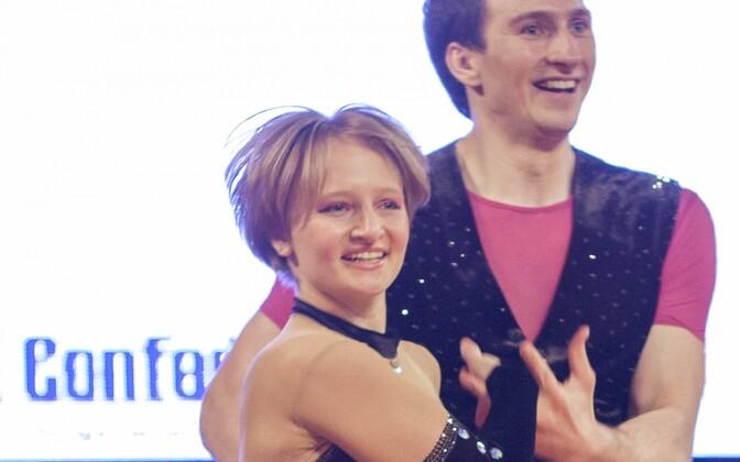 Jekaterina Tihhonova tantsupartner Ivan Klimoviga.
