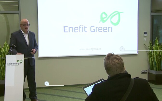 Aavo Kärmas introducing Enefit Taastuvenergia's plans.