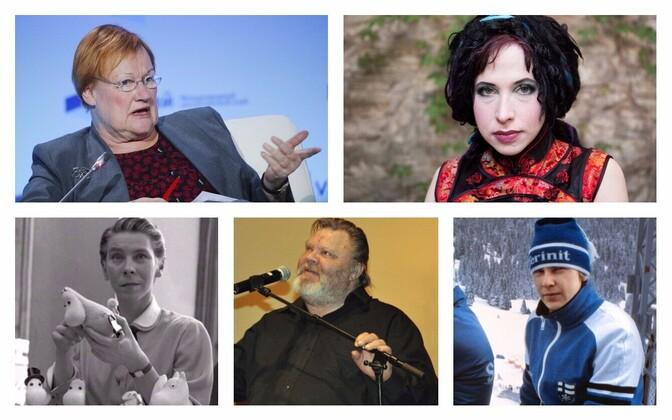 Seni pakutute seas on Matti Nykänen, Tarja Halonen, Sofi Oksanen, Tove Jansson ja Vesa-Matti Loiri