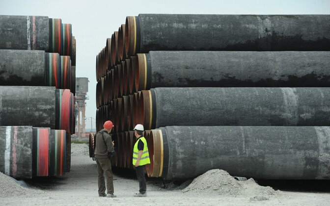 Piping for the first Nord Stream pipeline on Gotland, 2010.