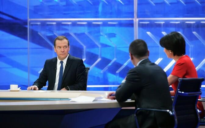 Dmitri Medvedev 30. novembril pikka teleintervjuud andmas.