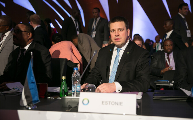 Prime Minister Jüri Ratas (Center) at the African Union-European Union Summit in Abidjan, Côte d'Ivoire on Thursday. Nov. 30, 2017.