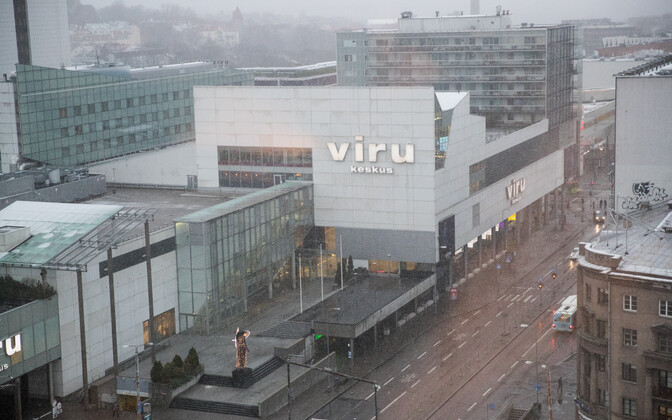 Viru Centre and Kaubamaja malls in Central Tallinn.