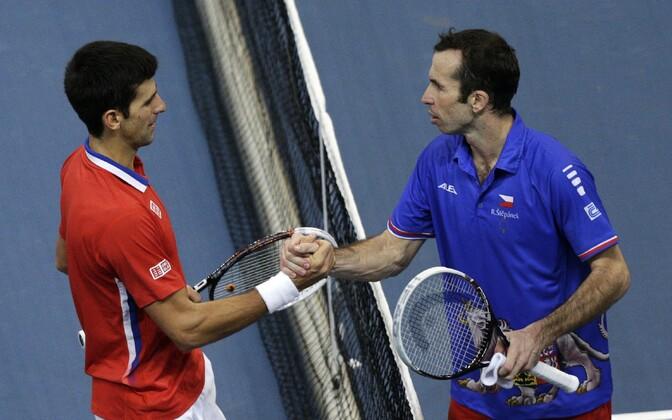 Novak Djokovic (vasakul) ja Radek Stepanek