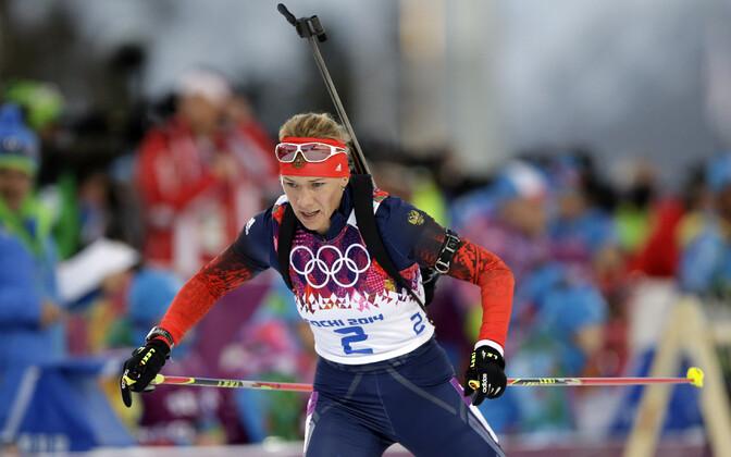 Olga Zaitseva Sotši olümpiamängudel.