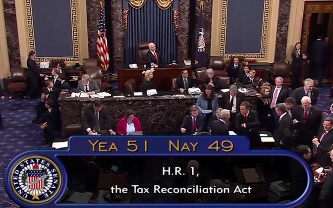 Сенат США принял собственный вариант налоговой реформы