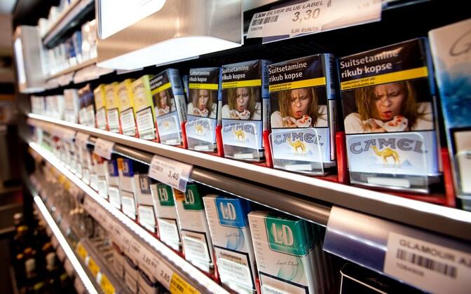 Sigaretid kaupluses.