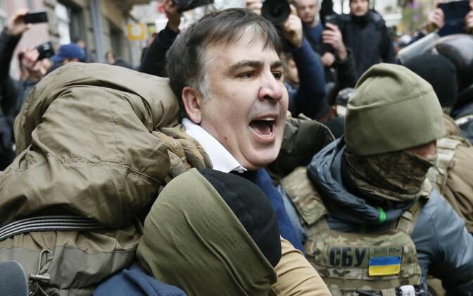 Задержание Михаила Саакашвили в декабре 2017 года.