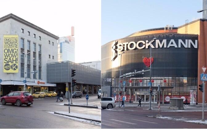 Tallinna Kaubamaja ja Stockmanni kaubamaja.
