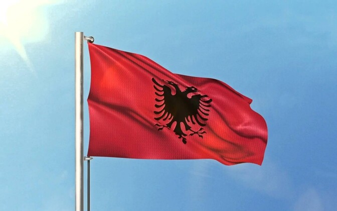 Флаг Албании.