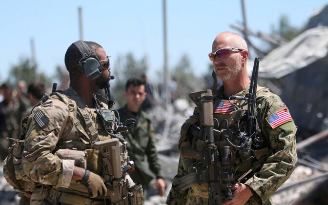 USA erioperatsioonide sõdurid Süürias.