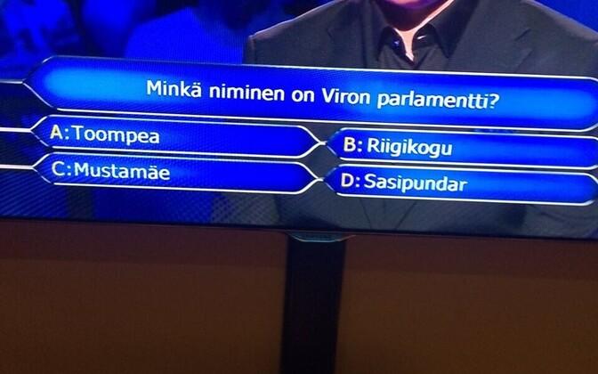 Soome miljonimängu küsimus