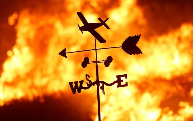 Пожар в Калифорнии.
