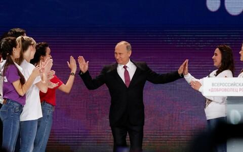 Владимир Путин на встрече с добровольцами в Москве.