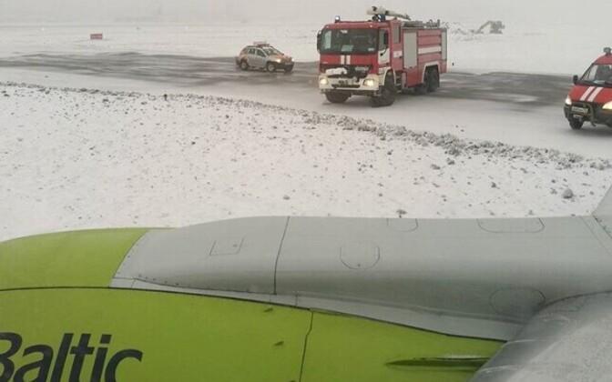 Intsident Air Balticu lennukiga Moskva Šeremetjevo lennuväljal.