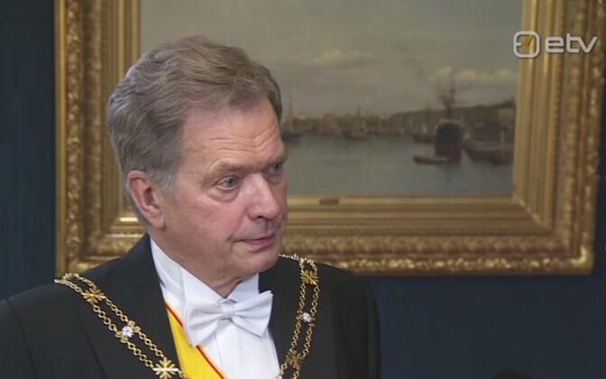 Soome president Sauli Niinistö ERR-ile intervjuud andmas.
