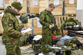 Reservists convened in Jõhvi for a a snap exercise announced just 24 hours in advance. Dec. 7, 2017.