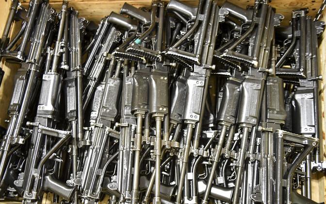 Reservväelaste relvad, arhiivifoto.