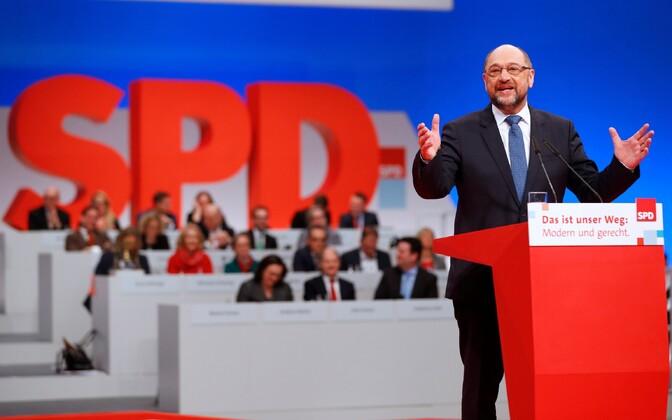 Saksa sotsiaaldemokraatide juht Martin Schulz 7. detsembril parteikongressil Berliinis.