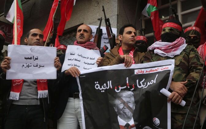 Протестующие в секторе Газа 7 декабря.