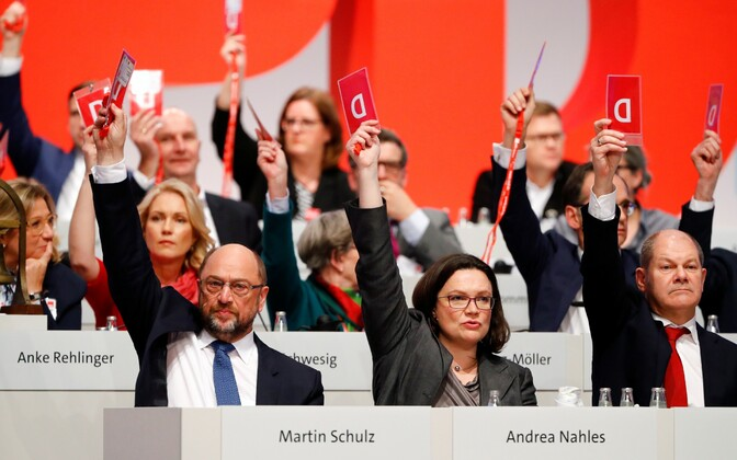 Решение было поддержано большинство голосов на съезде СДПГ.