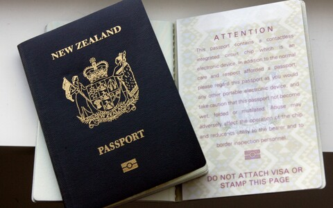 New Zealand passport.