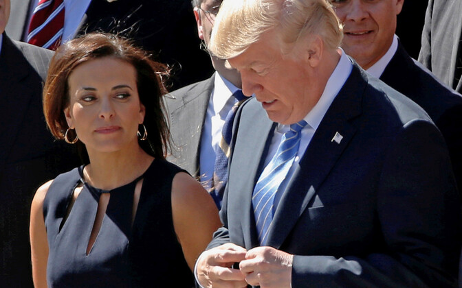 Dina Powell ja Donald Trump.