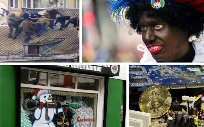 Saakašvili esimene vahistamine Kiievi katustel (video stoppkaader), Hollandi jõulutraditsioonide hulka Zwarte Piet (AFP/Scanpix),
