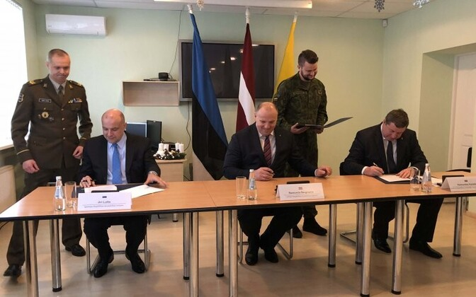 The defense ministers of the Baltic states met earlier this week.